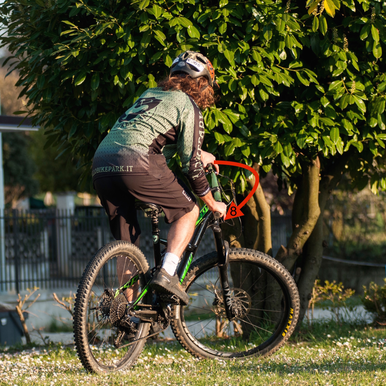 tutorial mountainbike fakie fase 4